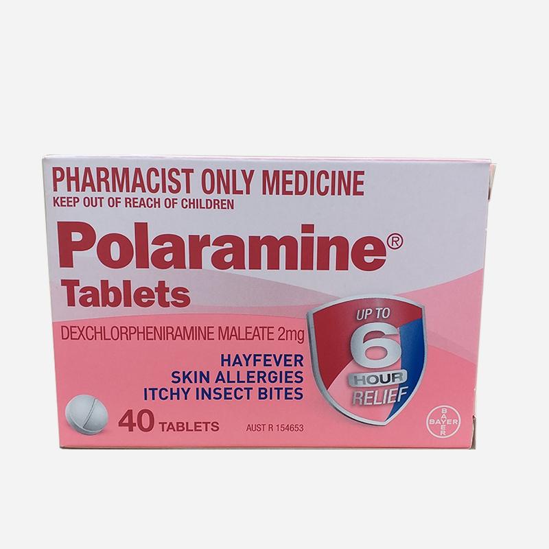 Polaramine 2mg 40 Tablets