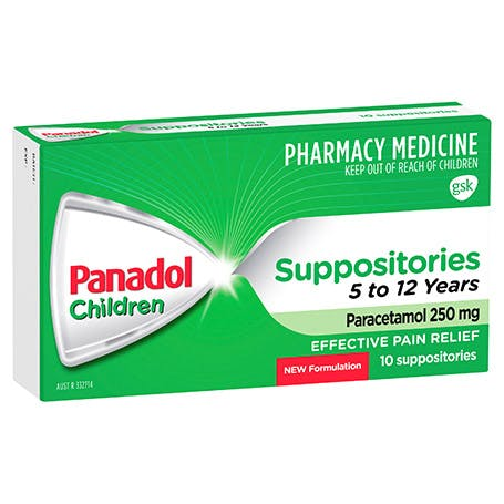 Panadol Suppositories 5-12 Years