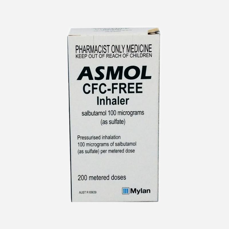 asmol cfc free inhaler 200 doses